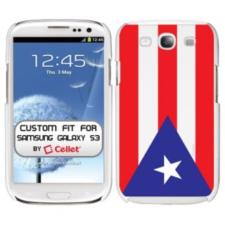Samsung Galaxy s III 3 Soft Touch Plastic Rear Case Puerto Rican Flag