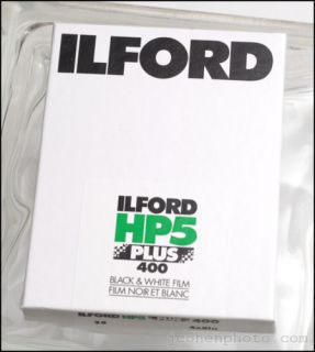 25 Sheets Ilford HP5 4x5 Large Format Film Fresh