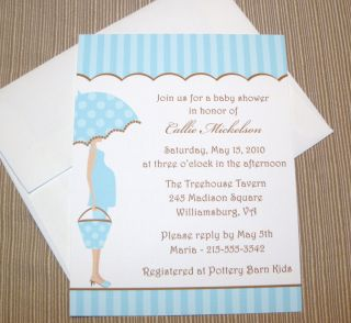 50 Mod Mom Baby Boy Shower Invitations Personalized