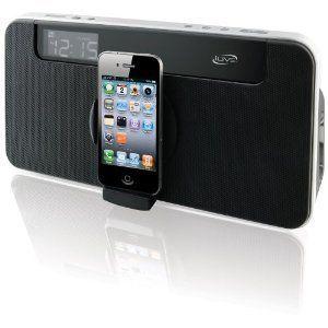 iLive App Enhanced Speaker System iPod iPhone ISP591B Clock Aux Input