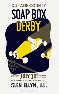 Du Page County soap box derby Glen Ellyn, Ill. / Beard. Poster