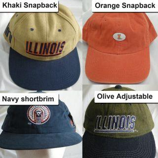 New Illinois Fighting Illini Vintage Snapback Adjustable Cap Hat 1990s