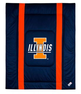 Illinois Fighting Illini Sideline Full Queen Comforter
