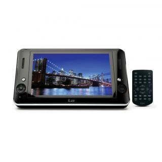 ILUV 8.9 PORTABLE CD DVD PLAYER W/ IPOD IPHONE DOCK CHARGER PLAY FROM