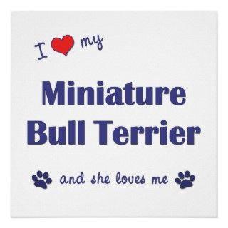 Amo mi bull terrier miniatura (el perro femenino) impresiones de