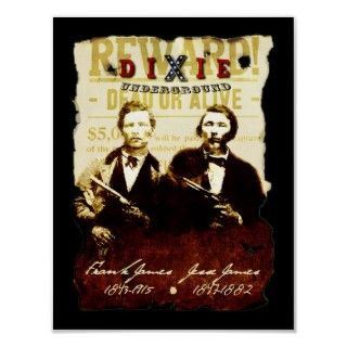 Frank and Jesse James, 10 x 13 Poster