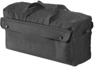 Jumbo Canvas Mechanics Tool Bag Military Style Black New with Tags
