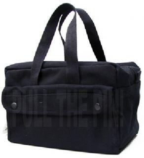 Military Mechanics Tool Bags Black Heavy Weight Cotton