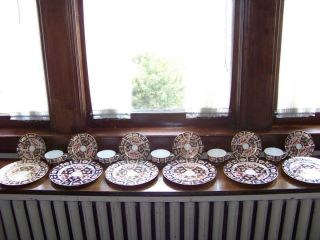 SET OF ANTIQUE ROYAL CROWN DERBY CHINA/DINNERWARE TIFFANY AND CO. NEW