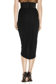 Thomas Wylde Big Rig stretch crepe wrap skirt   0% Off