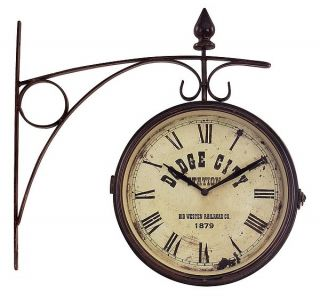 Imax 2512 Imax 2512 Old Fashioned Iron Train Station Wall Clock