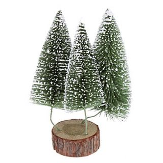 USD $ 12.99   24cm 10 3 in 1 Frosted Pine Christmas Tree Desk Top
