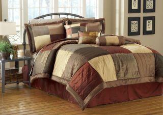 7pcs Queen Sequoia Bed in A Bag Comforter Bedding Set