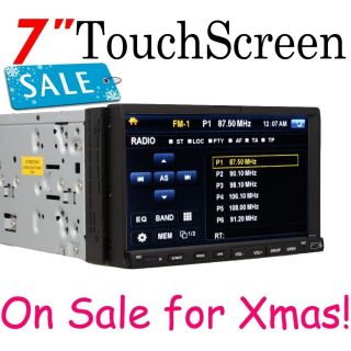 PV2210 7 in Dash Touch Screen DVD CD VCD Car Player Stereo  RDS