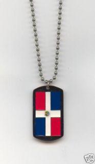 Dominican Republic Flag Dog Tag