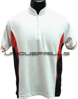 Impress White Running Dri Fit Mens Golf Tennis Cycling Polo Tee T