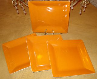 Lot Melamine Plastic Large Dinner Plates Serving Dish Orange 11
