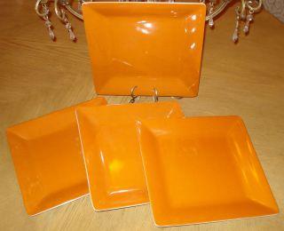 Lot Melamine Plastic Large Dinner Plates Serving Dish Orange 11