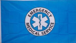 Large 3ftx5ft EMS Emergency Medical Service Store Banner Flag