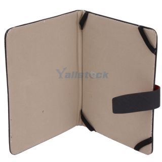 New 8 inch Tablet PC Fold Leather Case Protecting Jacket Black
