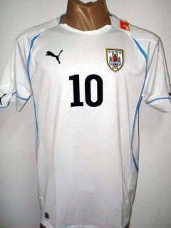 2011 Original Puma Uruguay Away Soccer Jersey Forlan 10 All Sizes