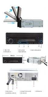 HD 7 1 DIN in Dash Touch Screen Car DVD Player Auto Radio Stereo GPS