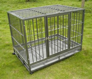 48 Heavy Duty Dog Pet Cat Bird Crate Cage Kennel HS