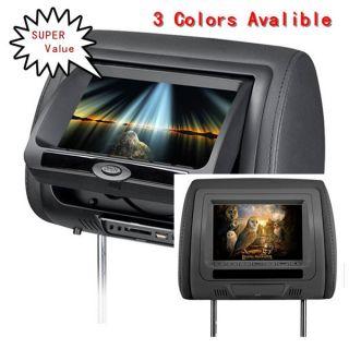 Black 7inch LCD Car Monitor 2 DVD Player Headrest DVD Player