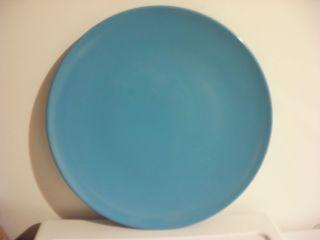 Turquiose Hard Plastic Melamine Dinner Plate Set of 2 11 Diameter
