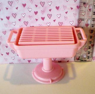 Playskool Doll House Backyard Pink Grill Genuine