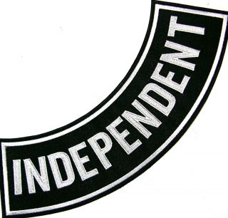 INDEPENDENT NO ASSOCIATION CLUB ALONE LONER SIDE BOTTOM ROCKER BIKER