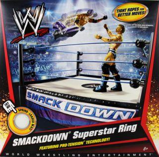 WWE SmackDown Superstar Wrestling Ring Mattel Toy Action Playset