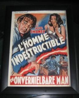 Lon Chaney Jr Indestructible Man 1956 Belgium Poster