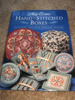 Meg Evans Hand Stitched Boxes Pattern Book Cross Stitch Plastic Canvas