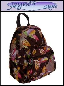 New Butterfly Travel Tote Backpack School Messenger Bag