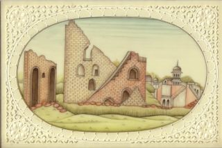 India Miniature Painting Jantar Mantar Faux Ivory Rajasthan