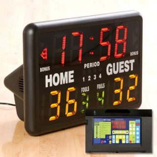 Indoor Portable Multisport Scoreboard w Remote Control