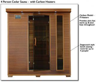 Heatwave Premium Cedar Indoor Infrared Sauna Carbon Heater