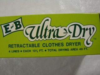 and B Ultra Dry Retractable Clothes Dryer 4 Lines Space Saving New
