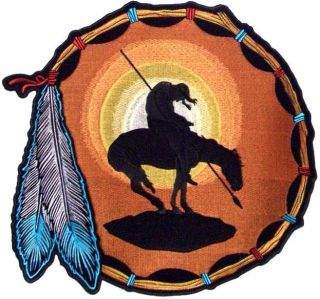 End of The Trail Indian Horse Warrior Embroidered Motorcycle Biker
