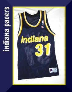 Mens Indiana Pacers Sz 36 Reggie Miller 31 NBA Jersey Basketball Shirt