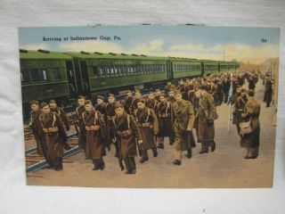 Set WWII Era Postcards Fr Indiantown Gap PA Army Base