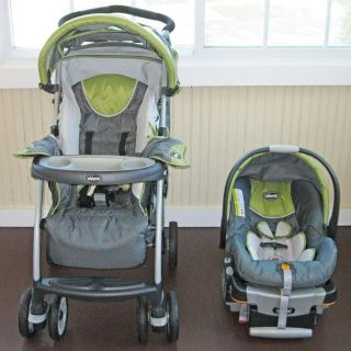 Chicco Cortina Travel System Stroller Infant Car Seat and Base