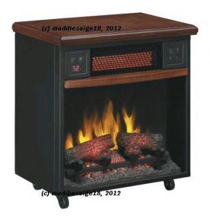 TwinStar 5200 BTU Infrared Quartz Electric Fireplace Heater w Remote