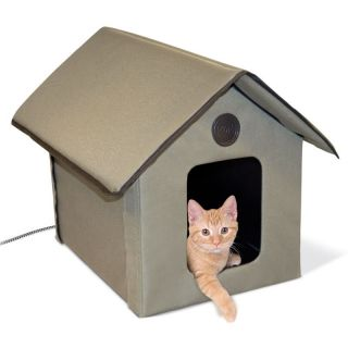 Pet Products Outdoor Heated Kitty Cat House Beds KH3993