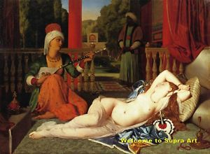 Odalisque with Female Slave Jean Ingres Repro Oil Paint