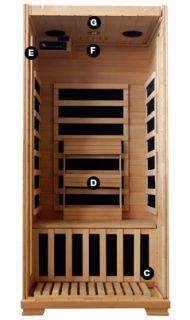 Infrared Sauna 1 Person Carbon Heaters Saunas Heatwave