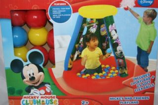 New Disney Mickey Mouse Inflatable Ball Pit Tent Mickey and Friends