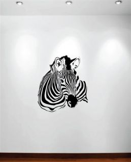 Large Wall Zebra Decal Pattern Nursery Girls Room Decor Removable
