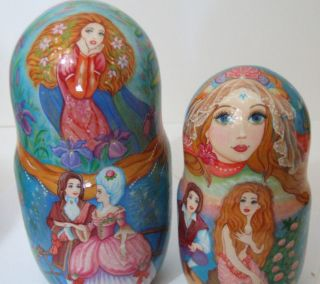 10pcs Russian Nesting Doll Mermaids by Inna Kaminskaya